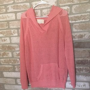 NWOT Shirt 469 Light Coral Summer Hoodie Cover-up